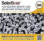 Solar Brite Deluxe Solar Fairy Lights 120 Super Bright White LED Decorative String, choice of light effect. Ideal for Trees, Gardens, Parties & More…