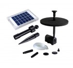 Solar Fountain Pump With 2w Panel 50cm Height Water Feature For Pond Garden