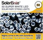 Solar Brite Deluxe 50 LED Super Bright White Decorative Solar Fairy String Lights, choice of light effect. Ideal for Trees, Gardens, Festive Parties & More…