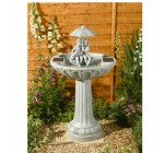 Smart Solar Umbrella Fountain – Stone Effect