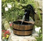 Newcastle Wooden Barrel With Pump Garden Water Feature