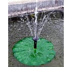 Solar Powered Floating Water Lily Garden Pond Water Feature Fountain