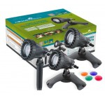 Underwater Pond and Garden lights – set of 3 x 20w + Colour Lenses New CQD-120C
