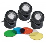 Set of 3 Fully submersible LED 1.6w Pond or Garden Lights with Light Sensor Reviews