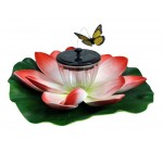 Kingfisher Floating Butterfly Pond Lily Led Solar Light & Motion Garden Ornament