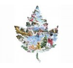 Winter on the Lake Shaped Jigsaw Puzzle by Sunsout