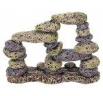 Rock Pebble Rubble Formation Aquarium Decoration Fish Tank Cave Ornament FP61097