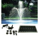 PK Green – Solar Powered Fountain Pond Pump Water Feature 4m Tube Head