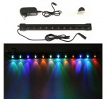 Amzdeal® Aquarium Fish Tank Underwater Air Bubble Light Multi-Color 12 LED 31cm, Flash Light