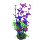7.9″ Fuchsia Green Plastic Fish Tank Underwater Ornament Aquarium Aquatic Plant