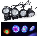 Change-color 4 Light Submersible Underwater 36LED Lights for Water Garden Pond