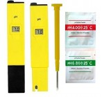 Digital PH Meter Tester For Aquarium Pool Spa Water With Free Calibration Sachets and Batteries