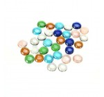 Aquarium Colorful Glass Gravel Stone Fish Tank Vase Decor–1 Pack of Approx. 30Pcs