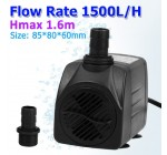 19W 1500L/H Submersible Fish Tank Powerhead Water Pump for Fresh/Salt Water Aquarium, Fountains, Spout and Hydroponic Systems.