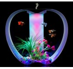 Apple Aquarium, 25 Litre Fish Tank, Tropical Ready, With Light, Filter & Heater, Includes FREE Decor pack as pictured (Fish not included) (White)