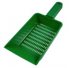 SODIAL(R) Green Plastic Aquarium Fish Tank Sand Scraper Scoop Pan