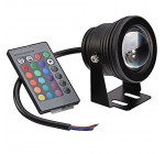 Ossun 10w 12v RGB Multi-Colour Aircraft Aluminum IP68 Waterproof LED Underwater Pond Pool Light Outdoor Floodlight,for Aquarium Fish Tank Fountain Swimming Landscape Adjustable -Blank Reviews