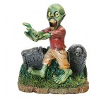 Zombie Walking In Gravestones Glow In The Dark Aquarium Ornament
