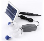 SOLAR POWERED OXYGENATOR POND WATER OXYGEN PUMP 2 AIR STONE AERATOR