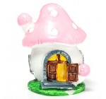 KINGSO Mushroom Miniature Dollhouse Potted Plant Garden Ornaments Decorations Pink