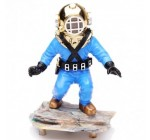 Aquarium Decoration Action-Air Aquarium Ornament Kneeling Diver