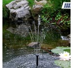 Sunspray® SE 450 solar fountain for small ponds with battery backup and adjustable flow pump (WITH battery backup)