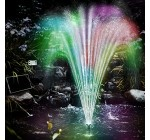 Solar Pump LED-Light Pond Garden LED with Battery Pond Pump Colorful Water Fountain