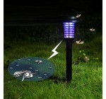 HomJo Solar lawn light Solar mosquito lamp led Inserting ground outdoor lamp traps mosquito lawn violet lamp room inside and outside