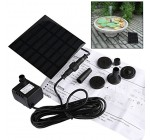 Solar Fountain Pump,GOCHANGE Solar Panel Pond Pump Water Feature Pump / Water Pump Submersible Pump for Pond Pountains with 4 Nozzles