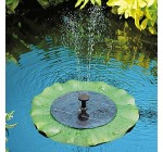 Solar Powered Lily Pad Outdoor Fish Pond Water Fountain