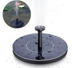 MSDADA Solar Fountain Pump, Solar Panel Pond Pump Water Feature Pump/Water Pump Submersible Pump for Pond Fountains with 4 Nozzles