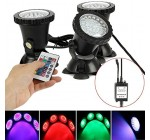 Zantec Outdoor Landscape Waterproof Spot Lamp Submersible 36 LED RGB Spot Light for Underwater Pool Pond Fountain UK Plug