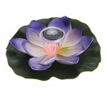 Lixada 0.1W Solar Powered LED Lotus Flower Light Multi Colored Lotus Flower Lamp RGB Water Resistant Outdoor Floating Pond Night Light for Garden Pool Party Ideal Gift Pink