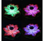 Solar Power LED Lotus Light Flower Lamp Floating Pond Garden Pool Nightlight