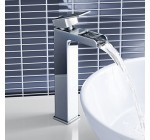 Tall Waterfall Counter Top Basin Mixer Tap Chrome Bathroom Sink Faucet TB3106 Reviews