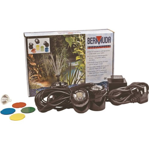 Bermuda Triple Pond Light Set Underwater Pond Light