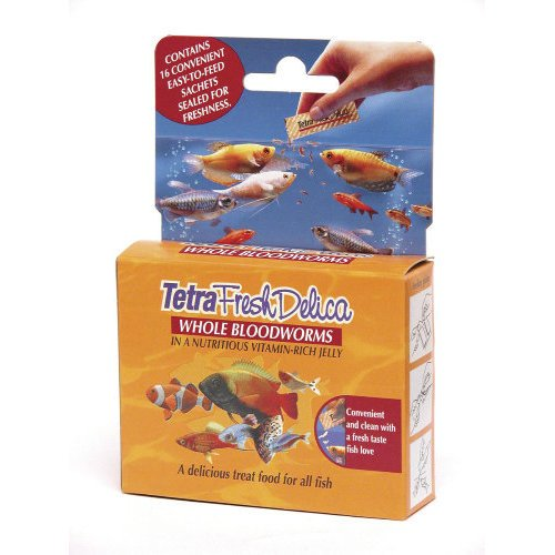 Tetrafin Fresh Delica Red Bloodworms 16x3g Fish Food Reviews
