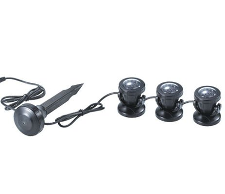 Submersible Pond and Garden LED lights x 3 with Light Sensor