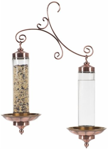 Perky-Pet 389 Copper Sip and Seed Bird Feeder