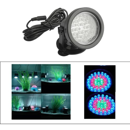 Vktech Underwater Spot Light 36 LED Submersible For Aquarium Garden Pond Pool Tank