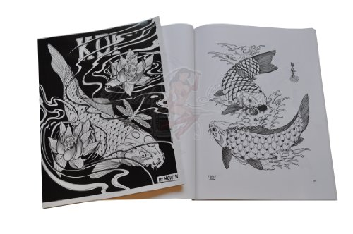 Japanese KOI Carp Fish Tattoo Flash Art Design Book by Horimouja Reviews