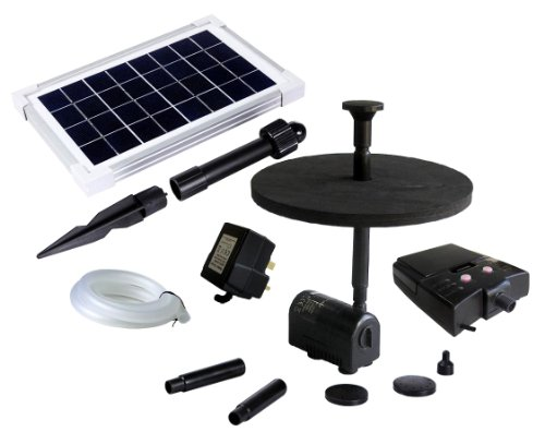 PK Green 2.5W Solar Fountain Pump with Battery Backup