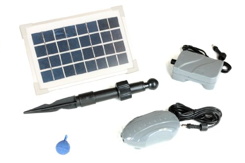 PK Green 3.5W Solar Pond Oxygenator / Aerator with Battery Backup
