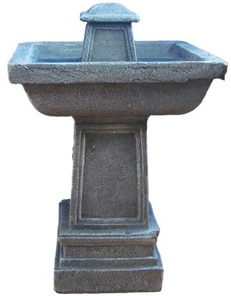 Solar Powered Outdoor Garden Stone Water Feature Fountain with LED Light Reviews