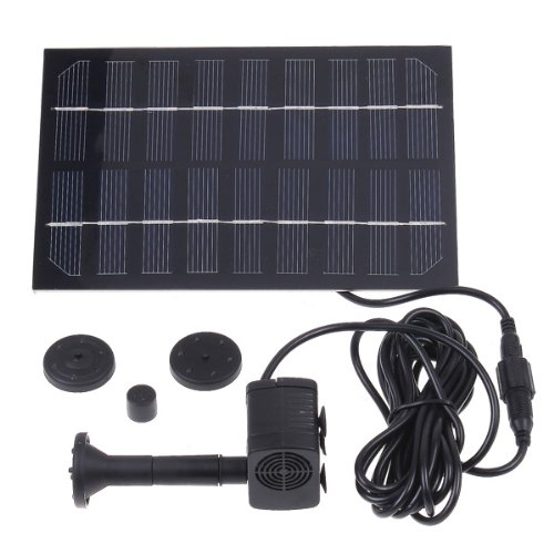 Andoer 9V 1.8W New Solar Brushless Pump For Water Cycle Pond Fountain Rockery Fountain Maximum Water Height: 70CM