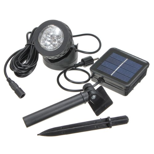 Solar Powered Amphibious Waterproof Under Water LED Spotlight Spot Light Lamp Projector Projection lamp Yard Garden Farm Pool Pond Outdoor