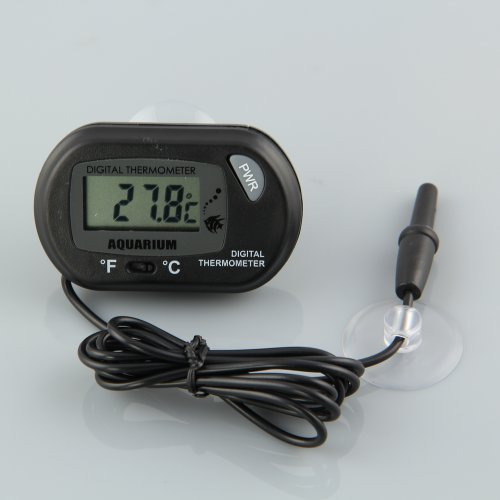 Misswonder New LCD Fish Aquarium or Reptile Snake Terrarium Marine Vivarium Thermometer