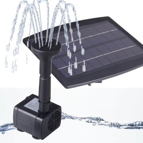 Keedox® 2.5W Solar Panel Powered Brushless Water Fountain Pump For Pool Garden Tank Rockery