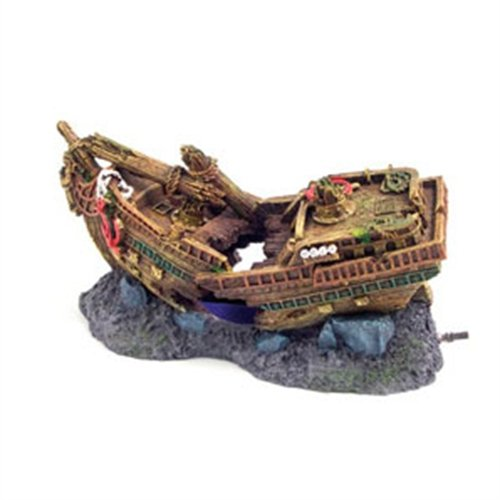 Galleon Ship Wreck Bubbler Fish Tank Aquarium Ornament Reviews