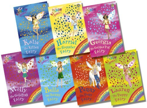 Rainbow Magic Pet Keeper Fairies Collection – 7 Books RRP £34.93 (29: Katie the Kitten Fairy; 30: Bella the Bunny Fairy; 31: Georgina the Guinea Pig Fairy; 32: Lauren the Puppy Fairy; 33: Harriet the Hamster Fairy; 34: Molly the Goldfish Fairy; 35: Penny the Pony Fairy)